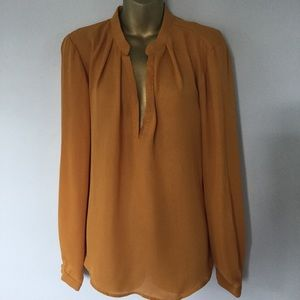 forever 21 mustard color blouse top size medium